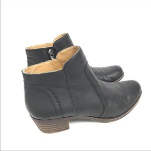 Lucky Brand Black Heeled Ankle Boots Leather 40